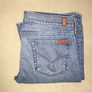 7 For All Mankind Tall Bootcut Jeans 30 10 long
